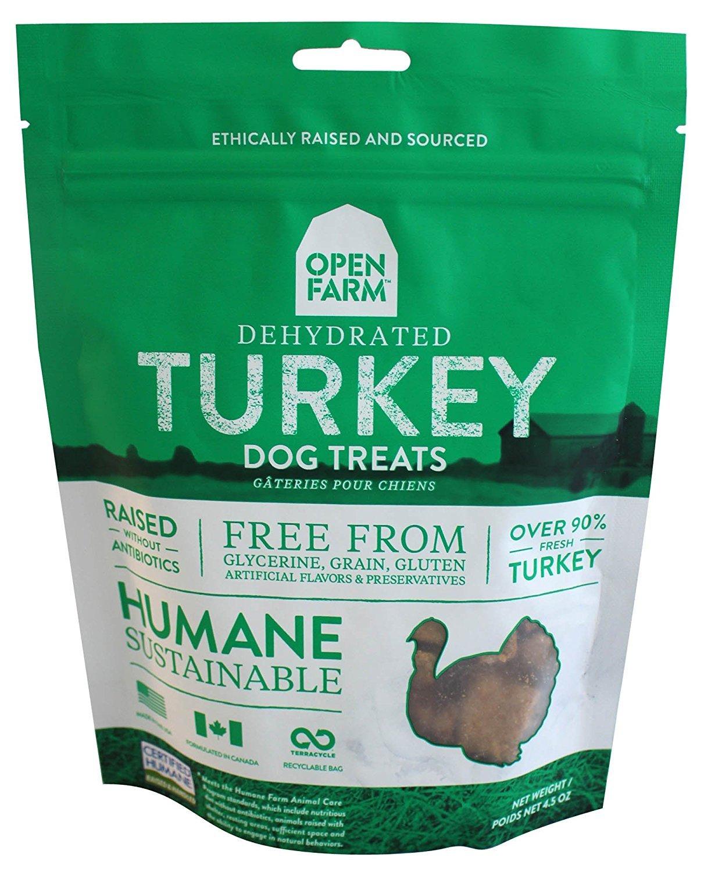 Open Farm Dehydrated Turkey Dog Treats 4.5 Ounces