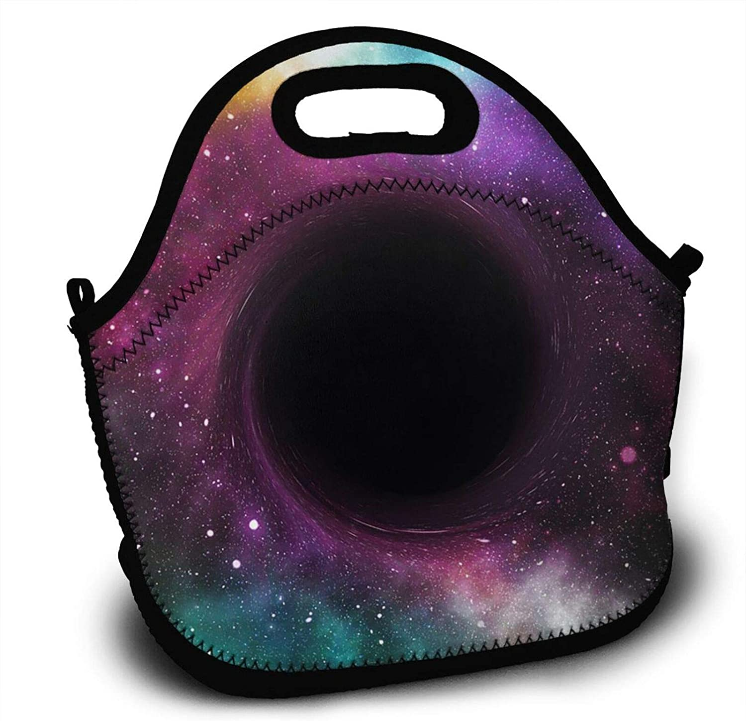 Black Hole In Colorful Sky Lunch Tote Bag Insulated Handbag Lunchbox Food Container Cooler Picnic Pouch For Women