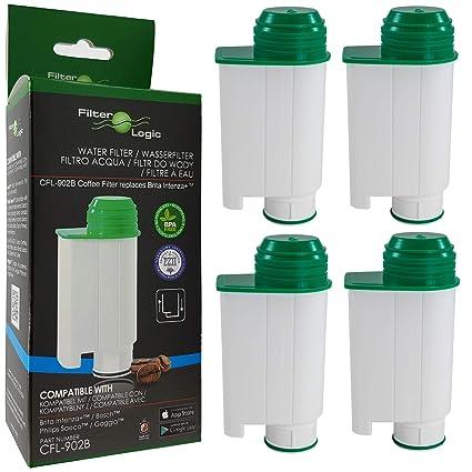 4 x FilterLogic CFL-902B - Filtro de agua reemplaza el cartucho de Saeco nº