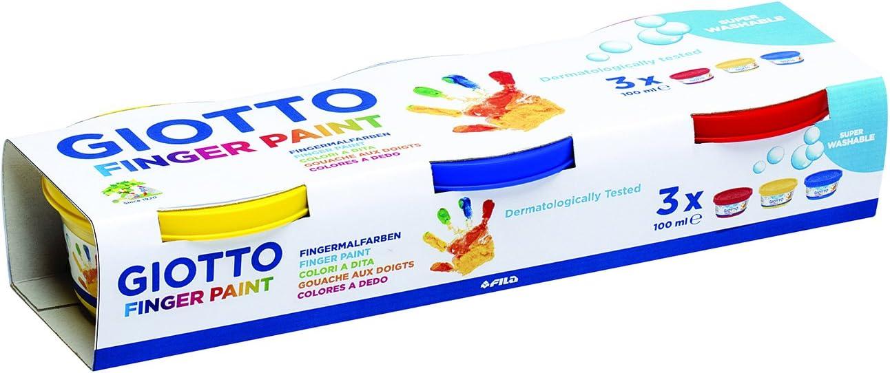 3 25.7 x 5 x 8.5 cm Fingermalfarbe 3 // Mehrfarbig Giotto