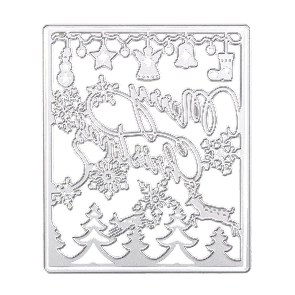 Tree Whitelotous Different Patterns Metalic Christmas Cutting Dies Stencil DIY Scrapbooking Album Paper Card