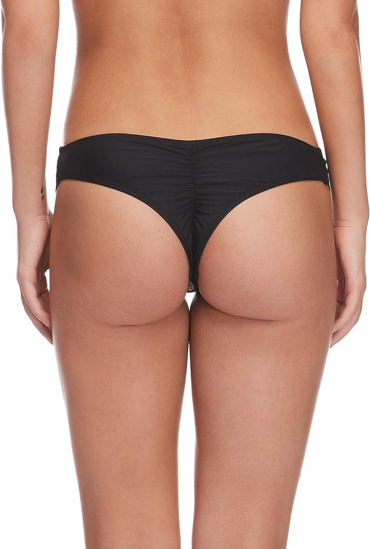 Body Glove Womens Smoothies Amaris Solid Cheeky Coverage Bikini Bottom Swimsuit