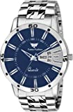 Fadiso Fashion Bare Basic Design Analogue Blue Dial Day and Date Functioning Men's Watch (FF01157)
