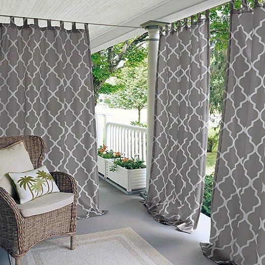 N&T 1 pieza gris enrejado cenador Panel de cortina 95