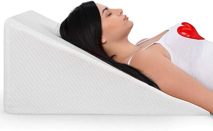 Amazon.com: Almohada de cuña con viscoelástica superior ...