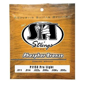 SIT P1150 - Juego de cuerdas para guitarra acústica y guitarra eléctrica de fósforo/bronce