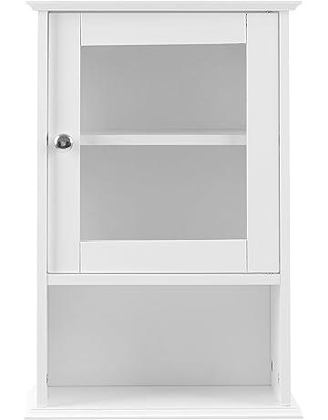 Premier Housewares – Armario de pared con puerta de cristal y estante – 51  x 35 335d2b608836