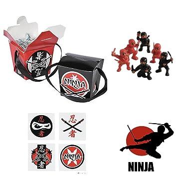 Amazon.com: 72 Ninja guerrero fiesta de cumpleaños favores ...