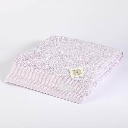 Burrito Blanco Toalla de Ducha/Toalla de Baño Grande Lisa de Rizo Suave Algodón 100% de 100x150 cm, Color Lila: Amazon.es: Hogar