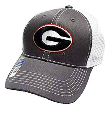 fd8c9810fc6 Amazon.com  Georgia Bulldogs Adjustable Gray Cap Mesh Back Hat  Clothing