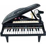 マジックピアノ ひかるカラフル 31鍵盤 ホワイト・ブラック2色展開 (ブラック)