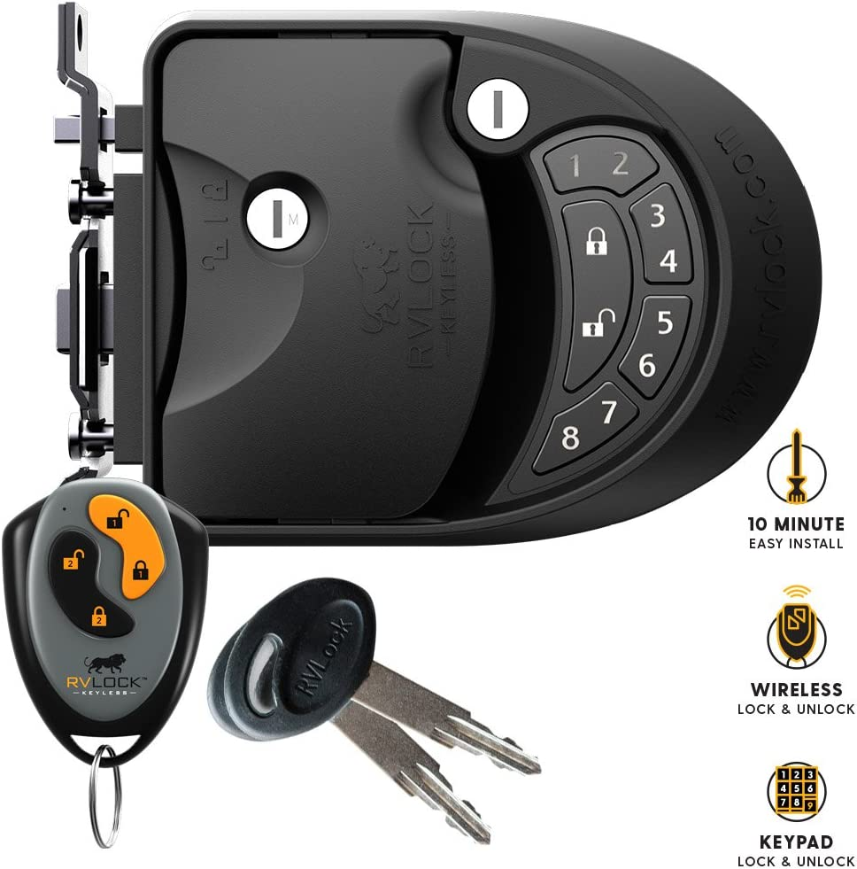 RVLock CLASS C//A Keyless Entry Keypad and Handle w//Fob RV Door Lock