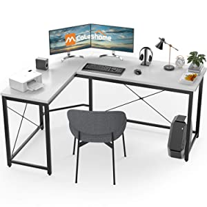 L Shaped Desk Corner Computer Desk Sturdy Computer Table Writing Desk