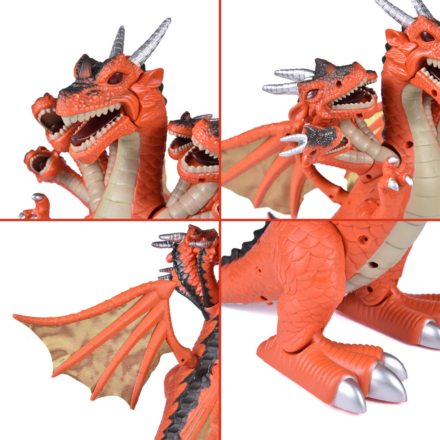 Dragon Toys for Boys, Seven Heads Walking Dragon 11.8''(L)×11.4''(H) Large Size with Lights and Sounds by FUN LITTLE TOYS (Image #5)