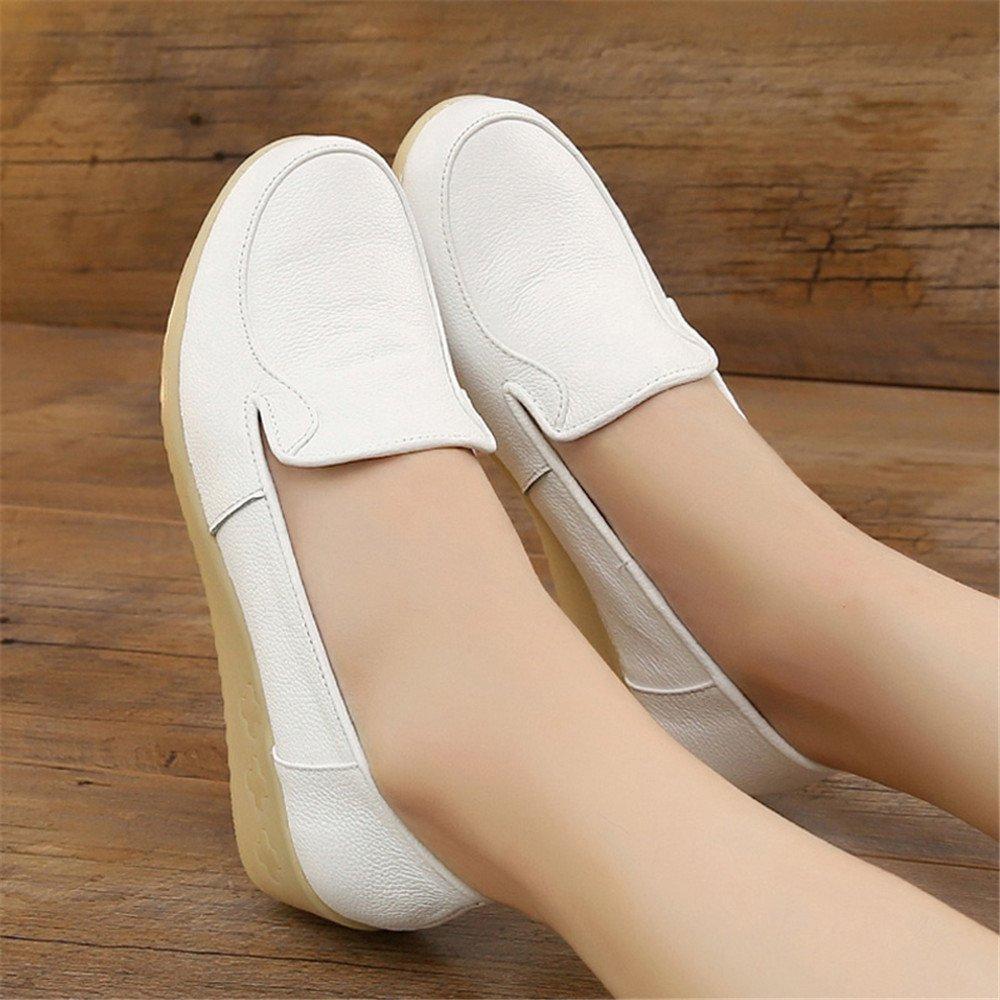 XZGC Feder Weiß Krankenschwestern Krankenschwestern Krankenschwestern Schuhe Frauen mit Rutschfesten Sehne Am Ende der Bildung des Weichen Arbeitsschuhe 67c6f3