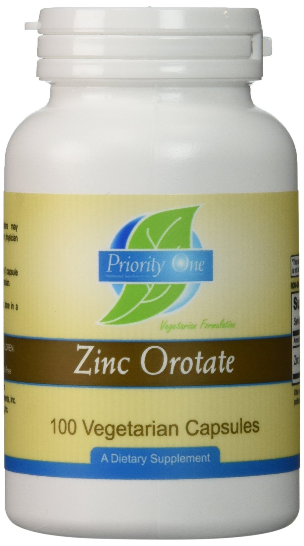 Priority One Vitamins - Zinc Orotate 100 caps [Health and Beauty]