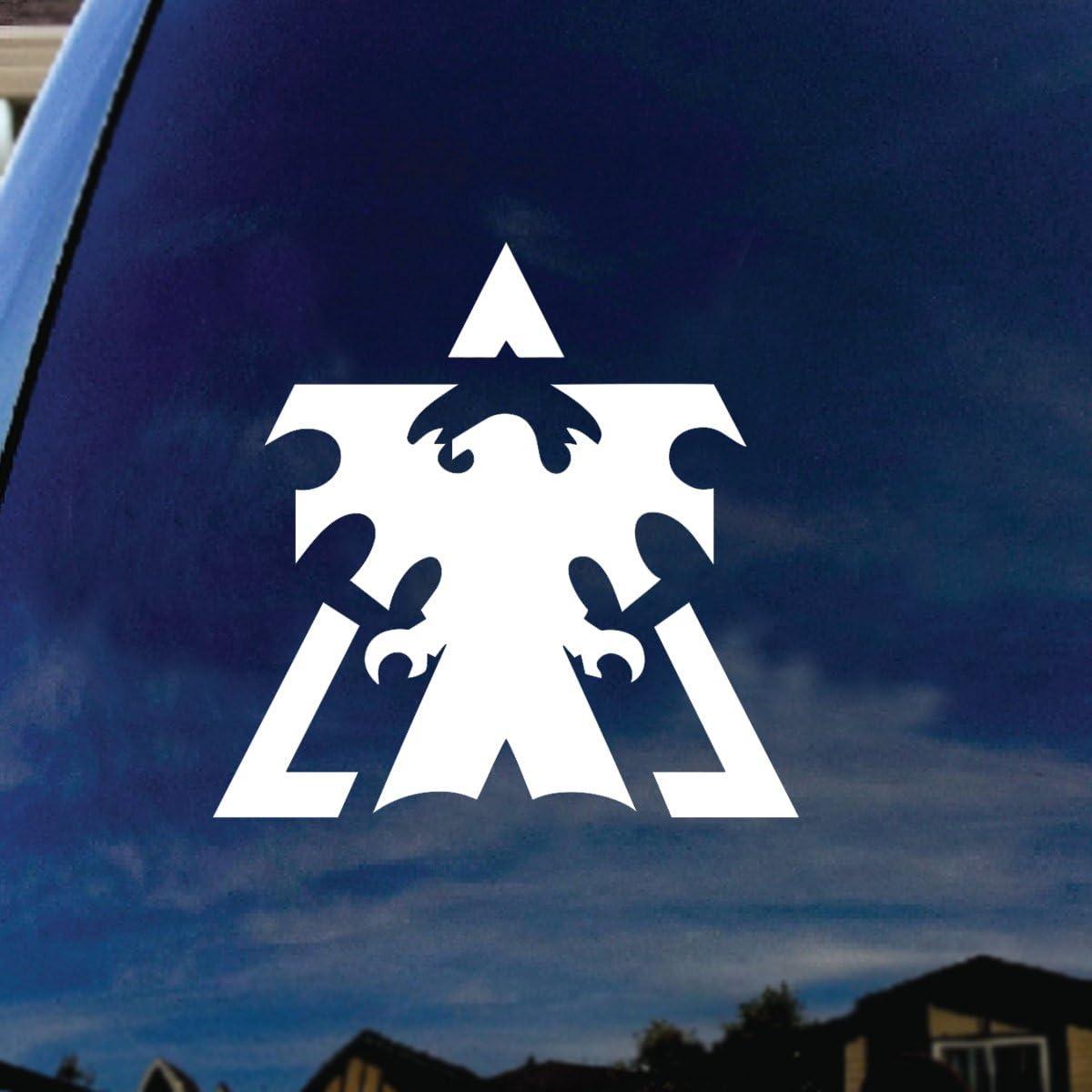 """SoCoolDesign Star Craft Terran Car Window Vinyl Decal Sticker 6"""" Wide"""