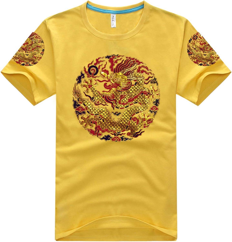 Camiseta Unisex de Verano para Hombres, Hombres de Verano de Manga Corta Impresos en 3D, Camiseta de Manga Corta con túnica de Personalidad para Hombre Estilo Chino colour2 XXXL: Amazon.es: Ropa y