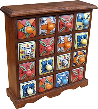 Small Apothecary Cabinet With Colored 4*4 Compartments / Colored Small  Apothecary Cabinet