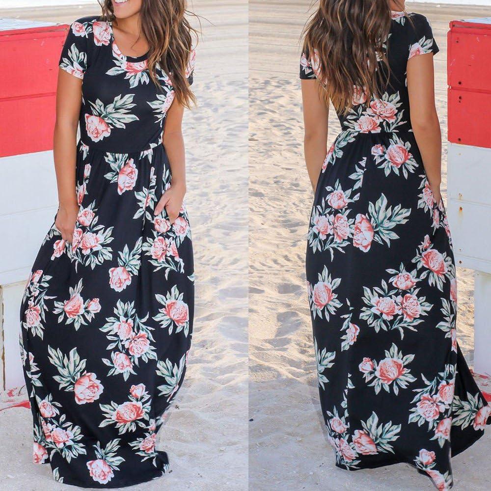 Damark(TM)) Vestidos Largos Verano Mujer Vestido de Verano Largo ...