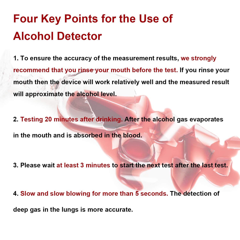 Amazon.es: POMILE Alcoholímetro Portátil Silicio Sensor Digital Alcohol Tester Analizador de Aliento Detector de Alcohol con Pantalla LCD (5 boquillas en ...