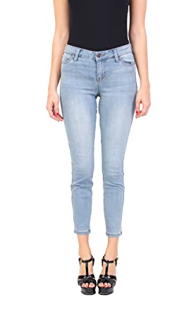 c2870d6a Celebrity Pink Women's Fashion Blue Jeans | Ankle Skinny | Middle Rise |  Button-Zipper