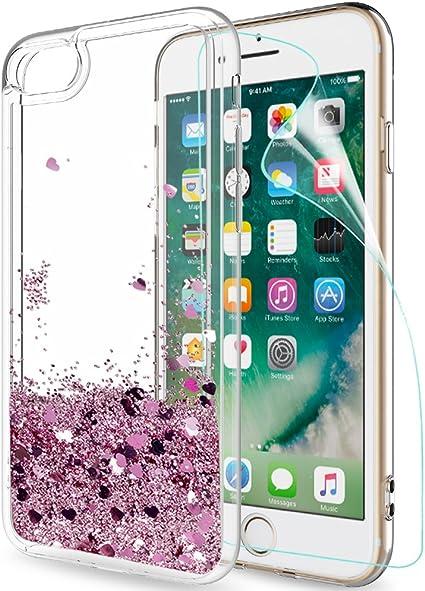 LeYi Funda Apple Iphone 7 / Iphone 8 Silicona Purpurina Carcasa ...