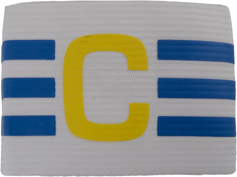 adidas - Brazalete de capitán de fútbol, Color Blanco y Azul, Color - White/Prime Blue s12/vivid Yellow s13, tamaño OSFM: Amazon.es: Deportes y aire libre
