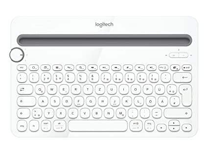 Logitech K480 - Teclado inalámbrico (Bluetooth, QWERTZ Alemán), Blanco