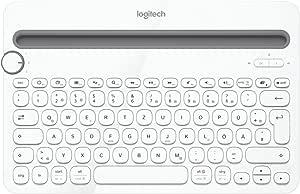 Logitech K480 Teclado Inalámbrico Multidispotivo para Windows, Apple iOS, Android o Chrome, Bluetooth, Diseño Compacto, PC/Mac/Portátil/Smartphone/Tablet, Disposición QWERTZ Alemán, Color Blanco: Logitech: Amazon.es: Informática