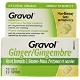 Certified Organic Ginger GRAVOL NATURAL SOURCE (20 Tablets) Antinauseant for NAUSEA, VOMITING & MOTION SICKNESS Ages 6…