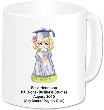 Personalizada taza graduación (gigante con 20 Taza) - de chica con un certificado con