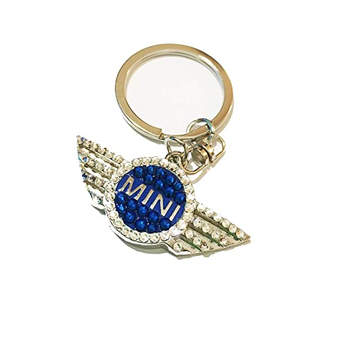 30f7e1777f Amazon.com: Bling keychain for Mini Cooper with Swarovski crystals ...