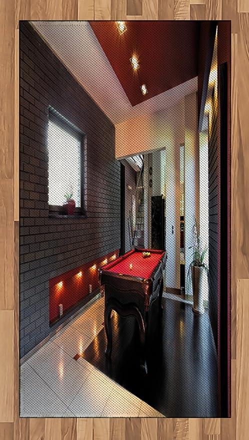 Moderno Alfombra por Ambesonne, casa con Hobby de tapete de billar ...