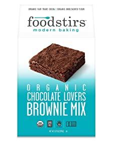 Foodstirs Organic Chocolate Lovers Brownie Dry Baking Mix, 13.9 Ounce (Pack of 6)