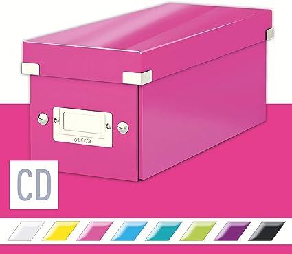 Leitz Caja para guardar CD, Fucsia, Click and Store, 60410023: Amazon.es: Oficina y papelería