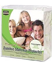 Utopia Bedding Protector de colchón Impermeable de bambú Funda de colchón hipoalergénica y Ajustable (135 cm x 190 cm x 30 cm)