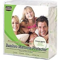 Utopia Bedding Protector de colchón Impermeable de bambú