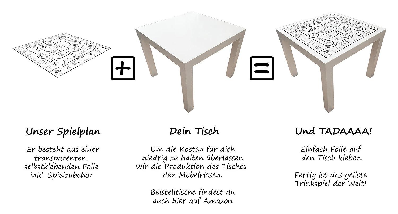 Trinkspieltisch - Klebefolie mit Spielzubehör (ohne Tisch): Amazon ...