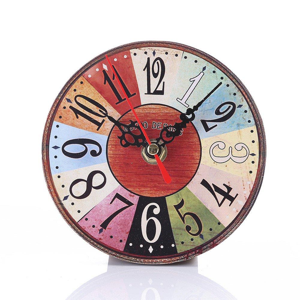 NEEKY Pendule Murale en Bois D/écoration Industrielle Design Horloge Murale Silencieuse Style Vintage pour Accueil Cuisine Bureau Pendules et horloges