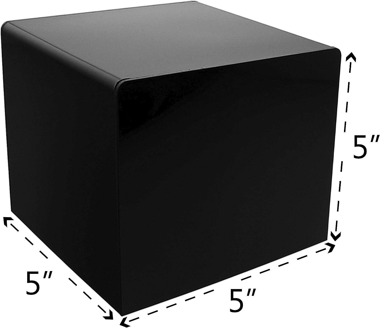 "10/"" Jewelry Cube Riser Display Pedestal Showcase Box 5 Sided Lot of 2 Acrylic"