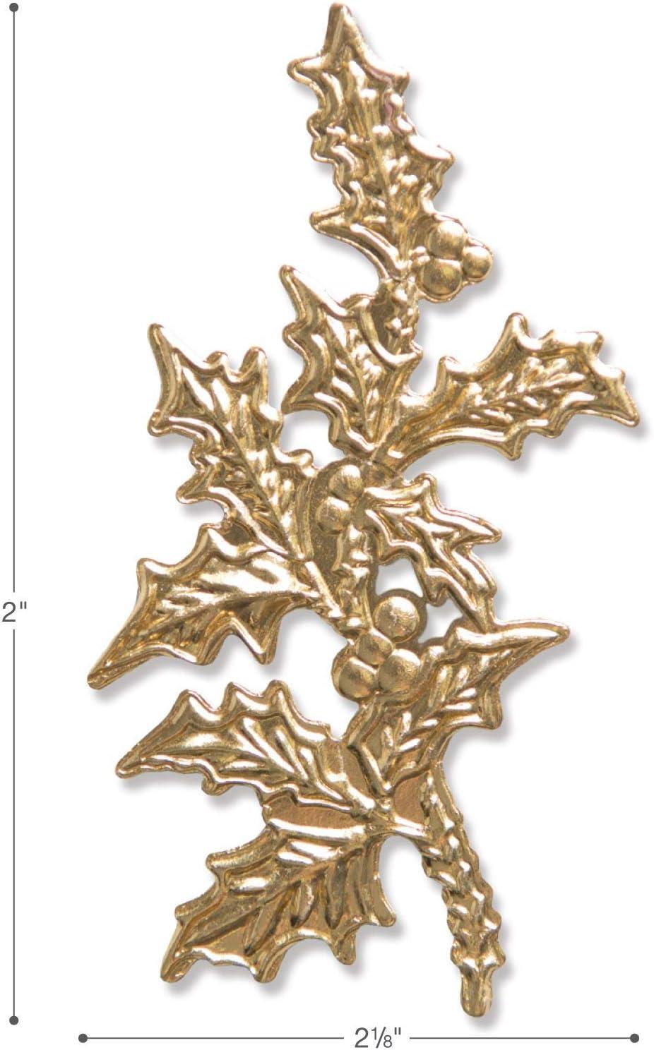 4 Item Bundle Holly Medallion and Flourish Laurel Tim Holtz 3-D Impresslits Embossing Folders