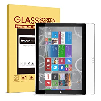 surface pro 3 screen protector tempered glasssparin explosion proof amazoncom tempered glass