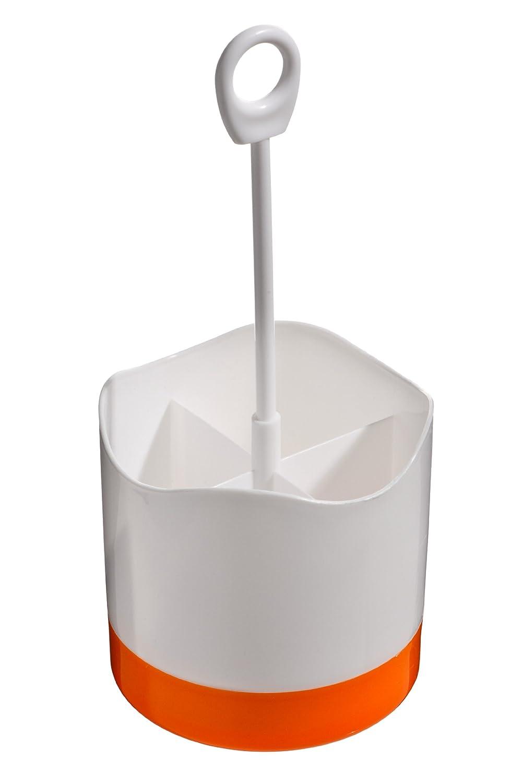Premier Housewares 0805154 Barattolo per Posate, 4 Scomparti, Plastica, Blu/Bianco