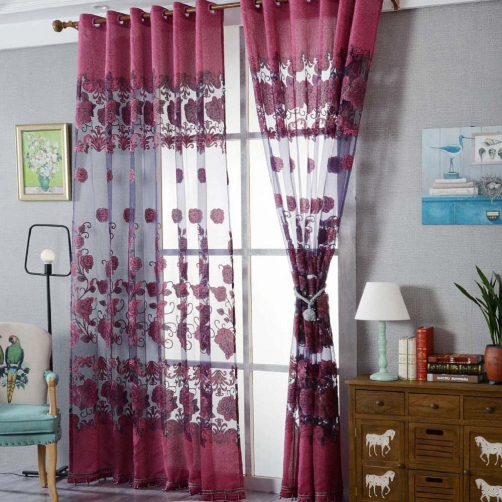 Fashion Flannelette Window Curtains For Home, Wedding, party, restaurant, hotel, shopping center, pub,Tuscom (#3)