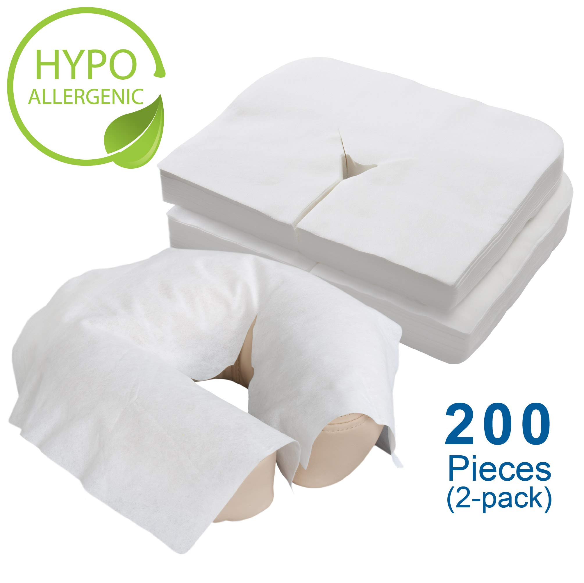 EARTHLITE Disposable Face Cradle Covers - Medical-Grade, Ultra Soft, Luxurious, Non-Sticking Massage Face Covers/Headrest Covers for Massage Tables & Massage Chairs