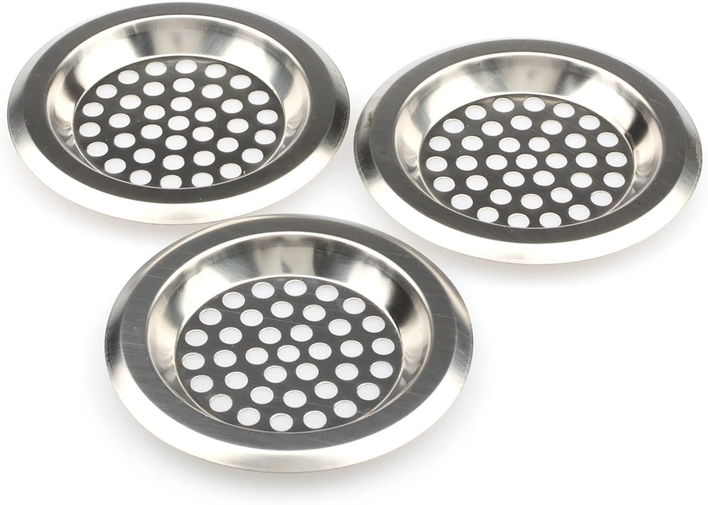 Kitchen And Bathroom Sink Strainer Stainless Steel Bathub Drain Cover Sink Drain Protector Bathroom Sink Drain Strainer Pack Of 3 Amazon Com