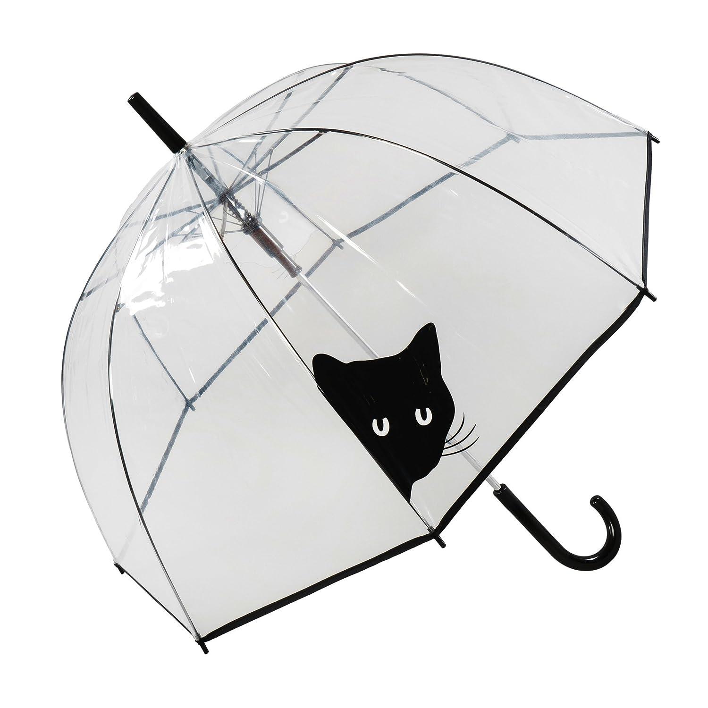 Paraguas transparente de gato