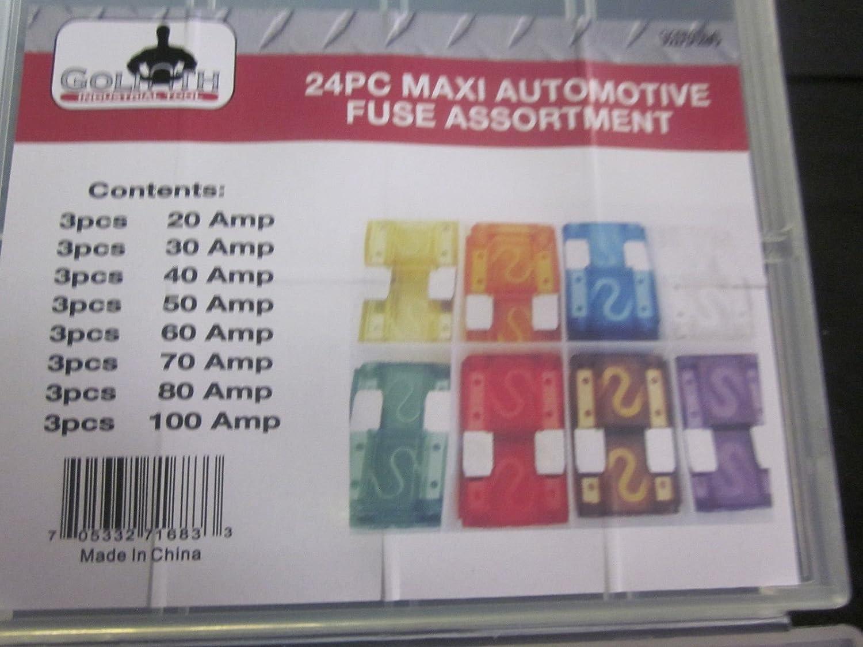 Car Auto Maxi Blade Fuses 20 40 70 60 80 /& 100 Amp Sizes Lorry Van 50 30