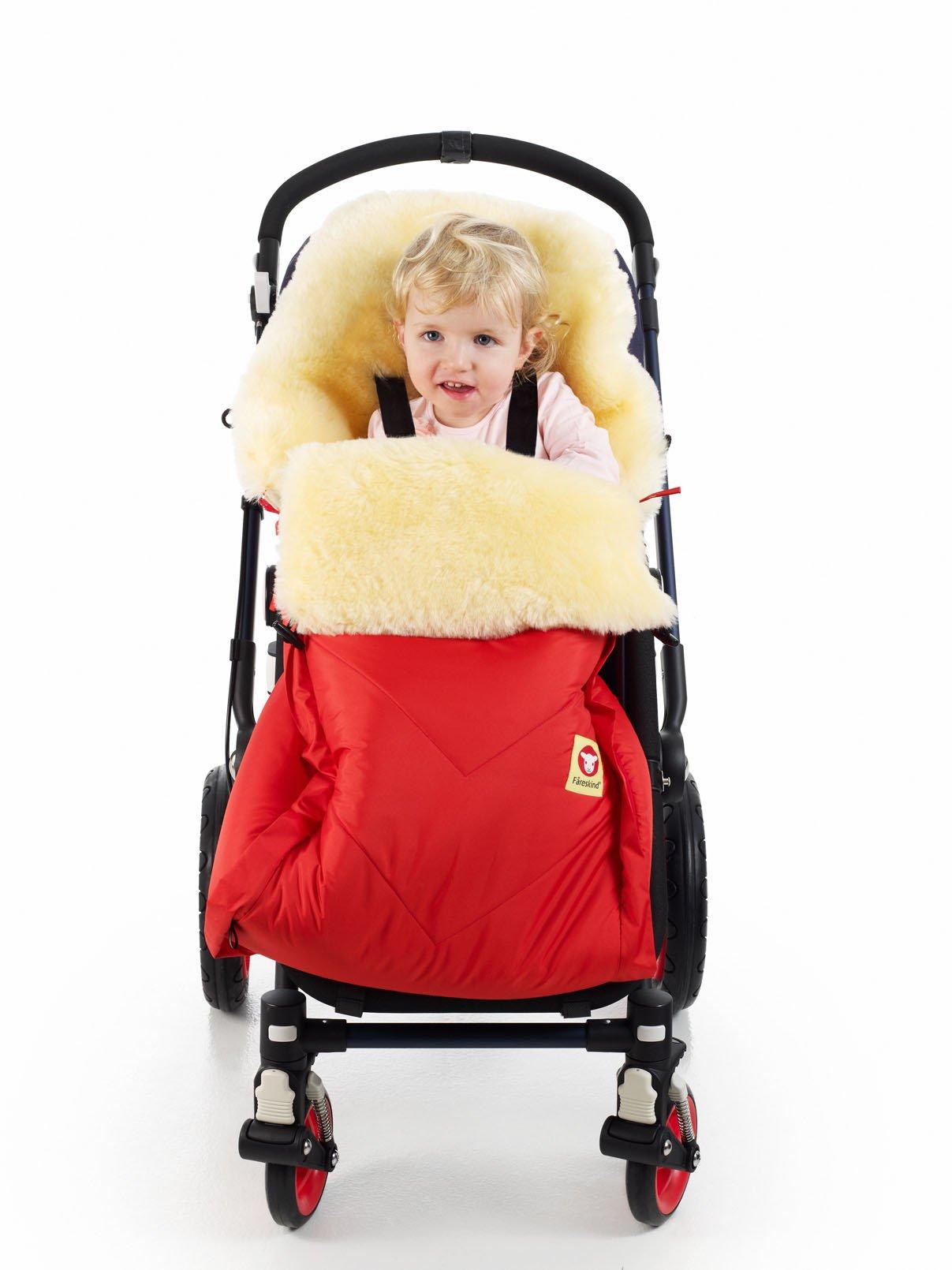 Fareskind Baby Go Comfy Sheepskin Bunting Bag, Red, 6-36 Months